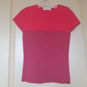 Yves Saint Laurent mulberry and red shirt